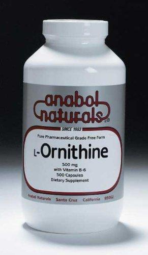 Anabol Naturals L-ornitina 500 mg, 100 cápsulas