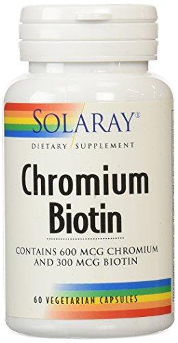 Solaray cromo biotina cápsulas, cuenta 60