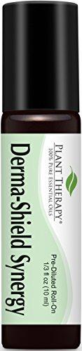 Derma protector (Anti hongos) sinergia previamente diluido aceite roll-on 10 ml (1/3 fl oz). Listo para usar! (Mezcla de: Tea Tree, lavanda, limón, madera de cedro, mirra egipcia, Tagetes y orégano)