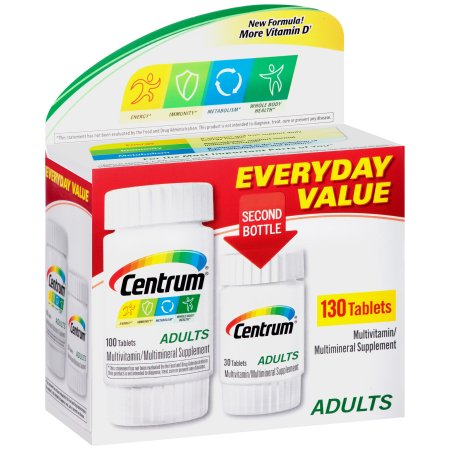 Centrum Adultos de multivitaminas - multiminerales suplemento tablillas 130 ct