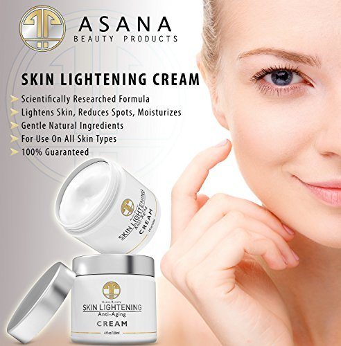 Asana belleza productos naturales aclarar la piel crema loción de brillo de 4 oz enorme para mejorar la decoloración de la piel, Melasma, hiperpigmentación, edad y oscuro puntos-mejor blanqueamiento y blanqueador piel máscara clarificante, 120ml