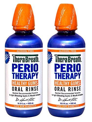 TheraBreath dentista recomienda enjuague bucal encías sanas PerioTherapy 16,9 onzas, (paquete de 2)