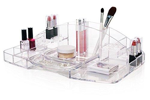 Gran capacidad almacenamiento de cosmético y organizador de maquillaje