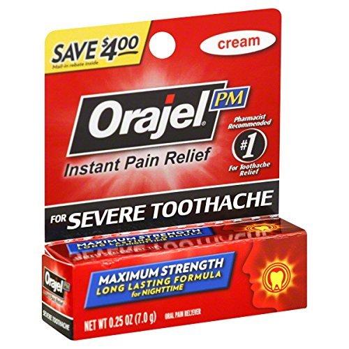 Orajel máxima fuerza durante la noche dolor de muelas dolor alivio crema - 0.25 Oz