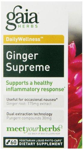 Gaia hierbas Supremo jengibre líquido Fito-cápsulas, cuenta 60