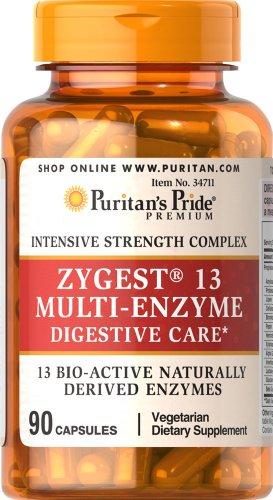 Pride Zygest 13 Multi-enzimas-90 cápsulas de Puritan