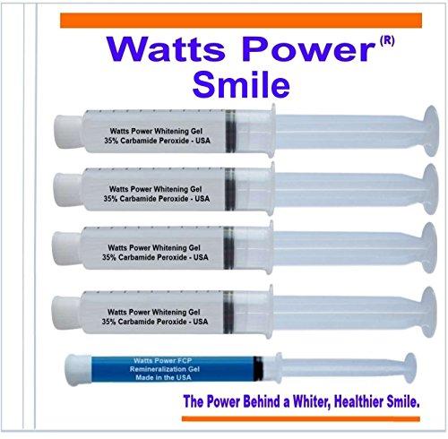 Vatios de energía 35% doble acción dientes blanqueamiento geles grandes 10ml - geles de enorme 10ml 4 Plus Gel Aftercare - optimizado de OTC de doble acción para superficie y manchas para resultados rápidos - Made in USA - Kosher