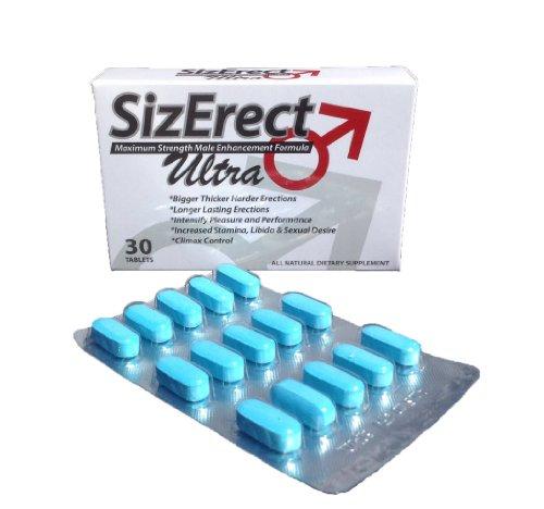 SizErect Ultra - máxima resistencia Sexual píldoras masculinas del realce - nueva y mejorada de acción rápida, duradera fórmula - oferta limitada