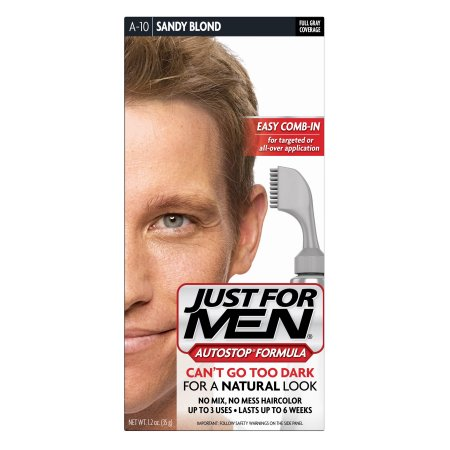 Just For Men AutoStop Fórmula Fácil Comb-en Haircolor A10 de arena rubio 1.2 OZ