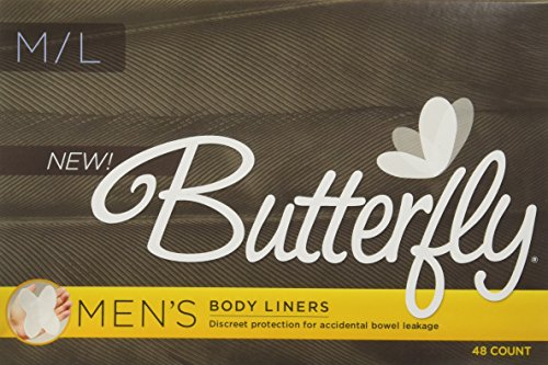 Cojines mariposa ® / trazadores de líneas del cuerpo del intestino si hay fugas - Conde de M/L 48 de hombres