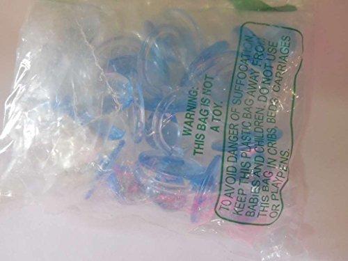 """12 PC 2.5"""" chupete azul bebé decoración juego parte favores de la ducha"""
