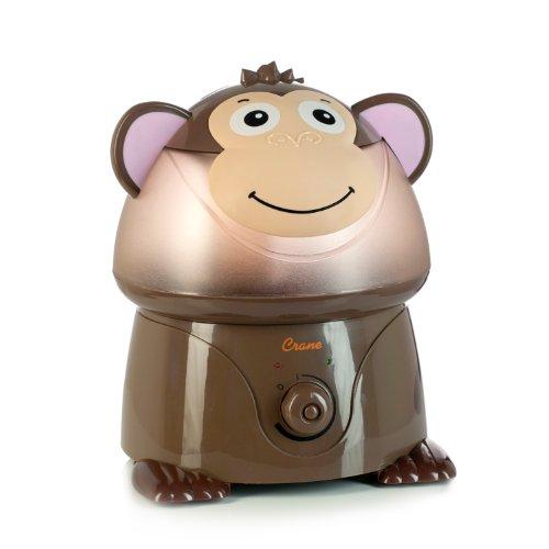 Humidificador de niebla fría ultrasónico Adorable con salida 2,1 galones por día - mono de la grúa