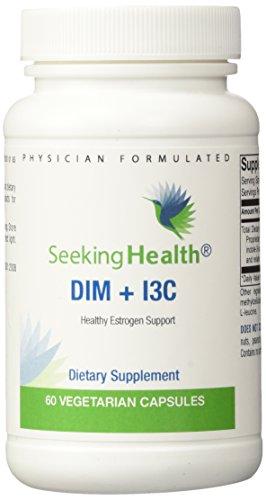 Buscando salud DIM + I3C estrógeno saludable apoyo 60 cápsulas vegetarianas
