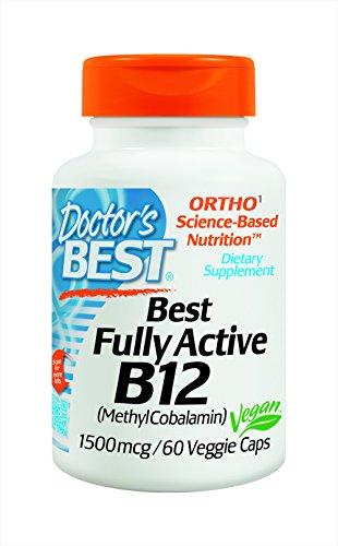El médico mejor activo B12 1500 Mcg cápsulas vegetarianas, cuenta 60