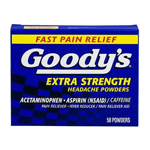 Goody de fuerza Extra polvos de dolor de cabeza, cuenta 50