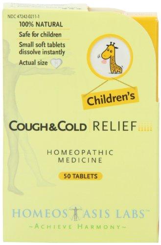 Tos y frío relieve, homeostasis Labs infantil 50-cuenta