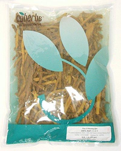 Raíz de escutelaria China corta orgánico / usted Ji Huang Qin / Scutellaria Baicalensis 1lb a granel hierbas