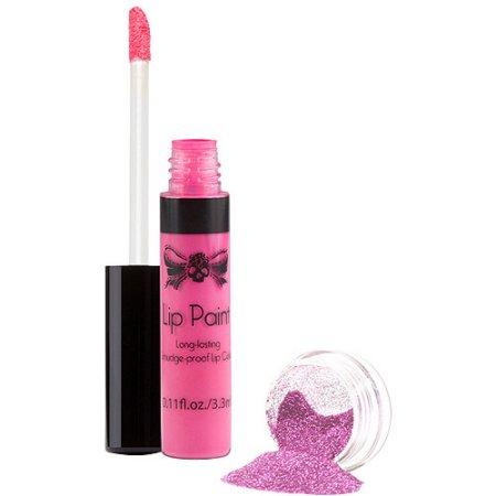 TATTOO JUNKEE ojo Rosa Lip Paint & Glitter Set, 2 PC