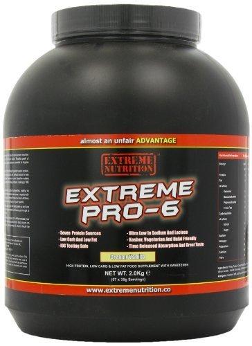 Nutrición extrema Pro-6 vainilla polvo 2Kg por extremo