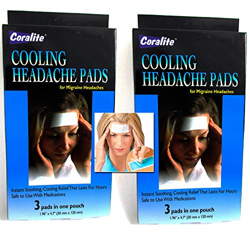 6 pc refrigeración migraña pastillas relajantes dolor alivio terapia Coralite nuevo!