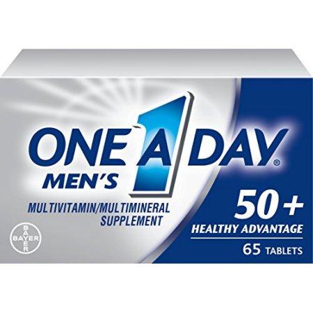 Paquete de 2 - One A Day Hombres 50- Advantage multivitaminas 65 cada uno