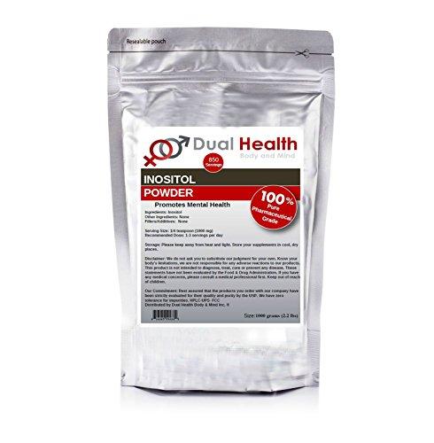 Inositol en polvo ((2,2 libras) de 1000 gramos) a granel suplementos puros