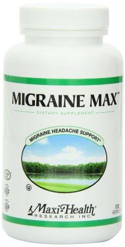 Maxi salud migraña Max suplemento, ayuda del dolor de cabeza, 120 cápsulas, Kosher