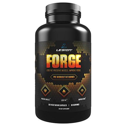 Fragua de la Legión antes del entrenamiento quemador de grasa suplemento para perder grasa, preservando el músculo y energizar tus entrenamientos - 120 cápsulas, 30 porciones