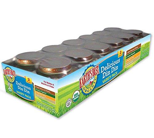 Mejor orgánico la etapa de la tierra 2, Delicious Din Din variedad Pack, 12 Conde, jarras de 4 onzas