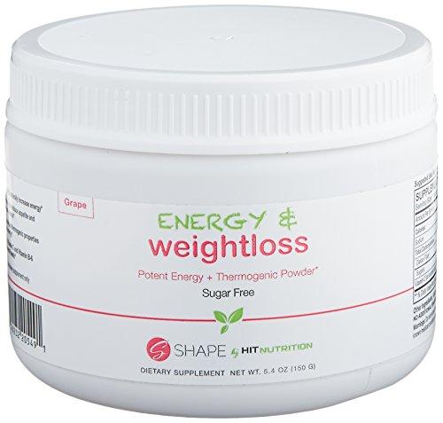 GOLPE de energía de forma más peso pérdida polvo, polvo del termogénico aumenta en general salud y aumento de energía, 30 porciones