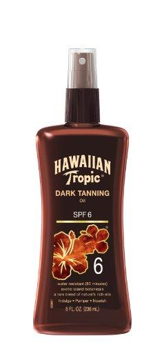 Hawaiian Tropic bloqueador solar oscuro bronceado aceite solar en Spray protector solar - SPF 6, 8 onzas