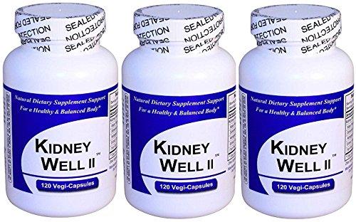 Riñones bien II (120 cápsulas) PACK 3, espectro completo, extracto Herbal concentrado mezcla, Natural suplemento dietético No rellenos, ligantes o ingredientes sintéticos