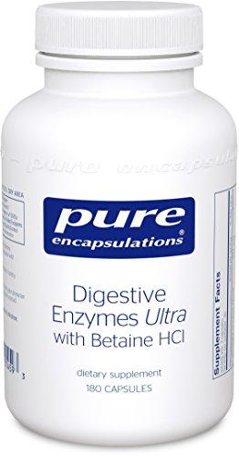 Puros encapsulados - enzimas digestivas Ultra w/betaína HCl 180's