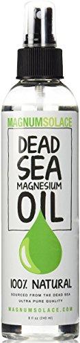 Aceite de magnesio del mar muerto 2oz tamaño viajero - Made in USA - proviene de minerales del mar muerto antiguo