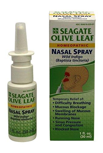 Spray Nasal Seagate productos hoja de oliva, 1 oz