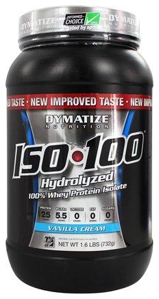 Aislar de proteína de suero 100% hidrolizada Dymatize ISO-100 - Gourmet vainilla - 1,6 libras