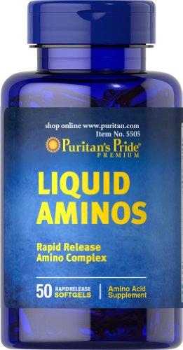 Pride líquidos Aminos-50 cápsulas de Puritan