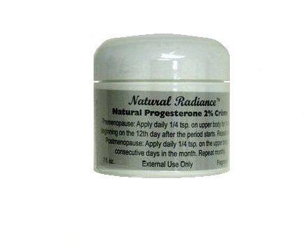 Progesterona natural Radiance crema tarro, perfume, 2 onzas