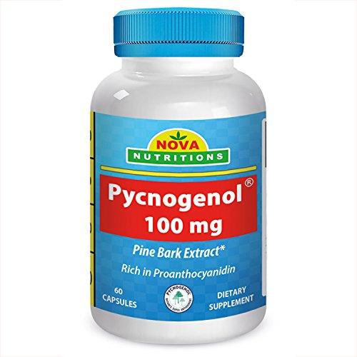 El Pycnogenol 100 mg 60 cápsulas por Nova nutriciones
