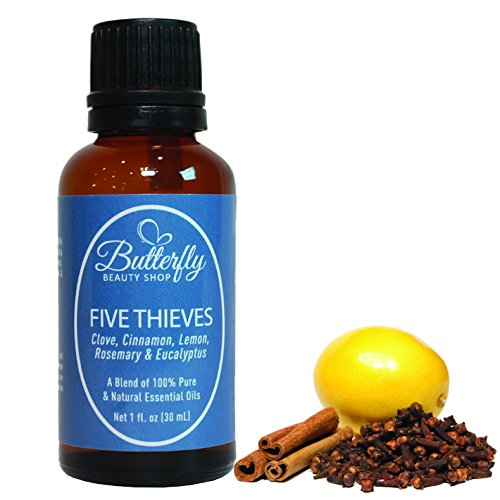 Venta de escape de cinco ladrones! Una hermosa combinación de 5 aceites esenciales: clavo, canela, limón, Romero y eucalipto. 100% puro, Natural y sin diluir.