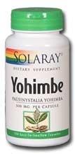 Solaray Yohimbe--350 mg - 100 cápsulas