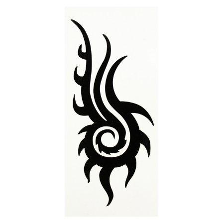 Remolinos de Patrón Omnisciente temporal de los ojos Tribal Tattoo