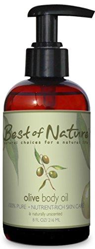 Aceite corporal de oliva - 8 onzas -100% puro y Natural - para cuerpo y pelo!