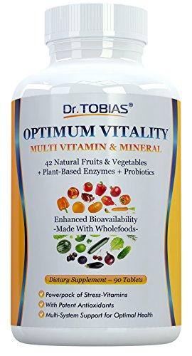 Dr. Tobias multivitamínico y Mineral Plus enzimas - realzada biodisponibilidad - con alimentos enteros y hierbas ingredientes - rico en vitaminas B y C
