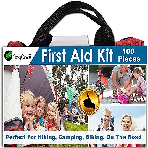 Kit de primeros auxilios por noyCare-100pcs de insumos profesionales para fácil cuidado of Trauma-con pequeño, lindo bolso mochila perfecta para Boy Scouts, Girl Scouts, Auto, bebé, familia, deportes, Kit de seguridad vial