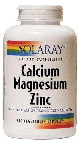 Solaray - calcio magnesio Zinc, 250 cápsulas