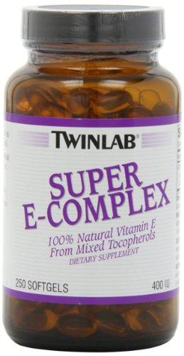 Twinlab Super complejo E 400 UI, 250 cápsulas
