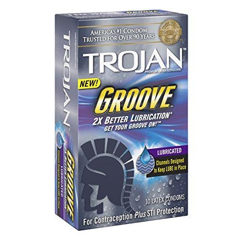 Ranura de Trojan lubricados condones, cuenta 10