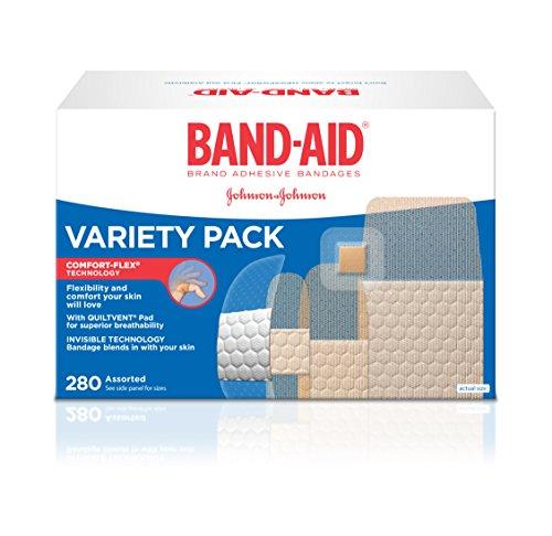 Vendajes adhesivos de la marca de curita, paquete de la variedad, cuenta 280