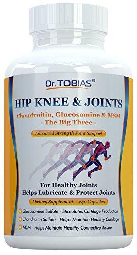 Cadera rodilla y articulaciones - condroitina, la glucosamina y la combinación de MSM - soportes empalmes sanos y cartílago